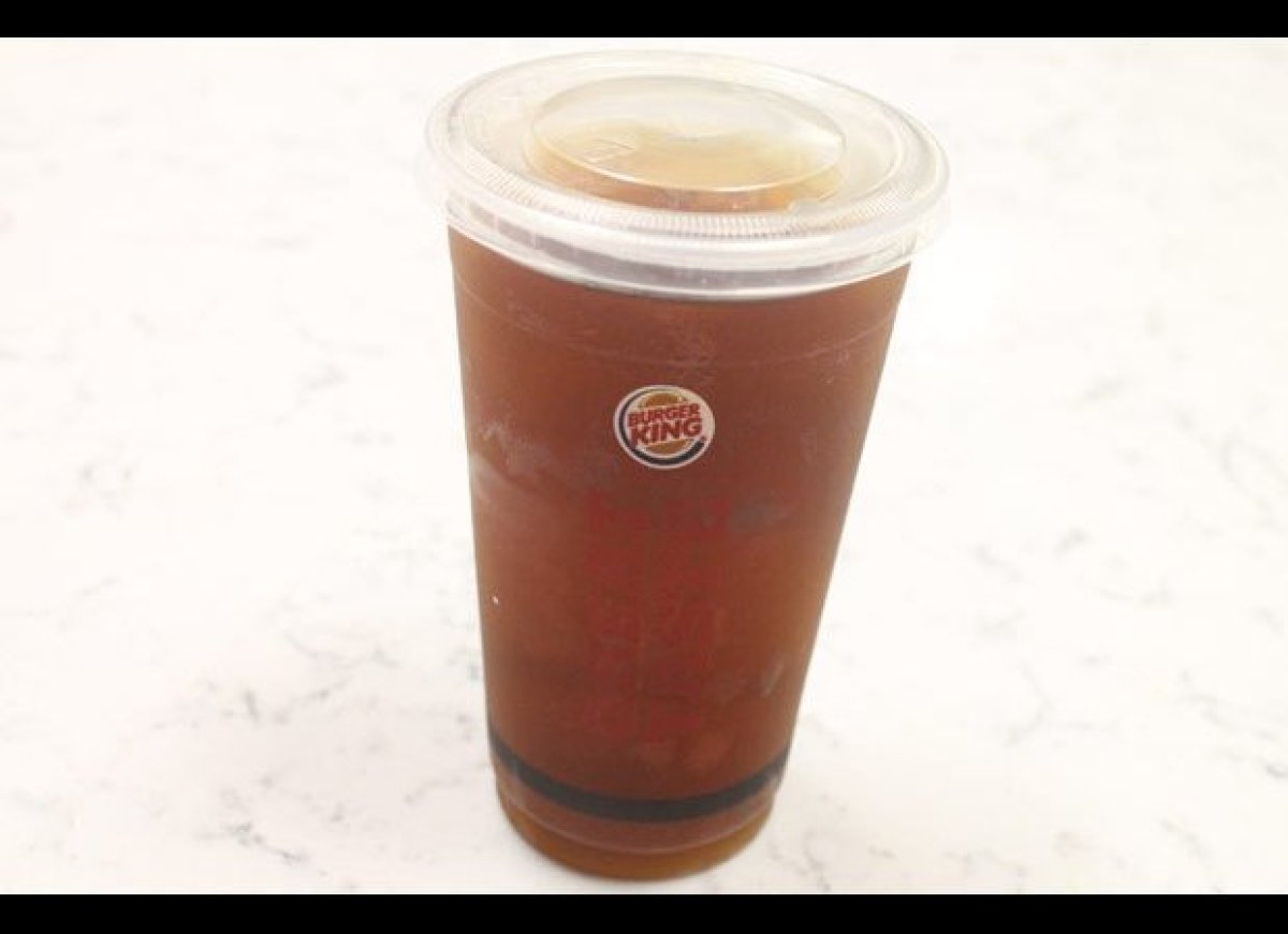 Burger King doesn't technically serveblack iced coffee. It can be done,but you have to ask for a hot coffee of the Seattle'