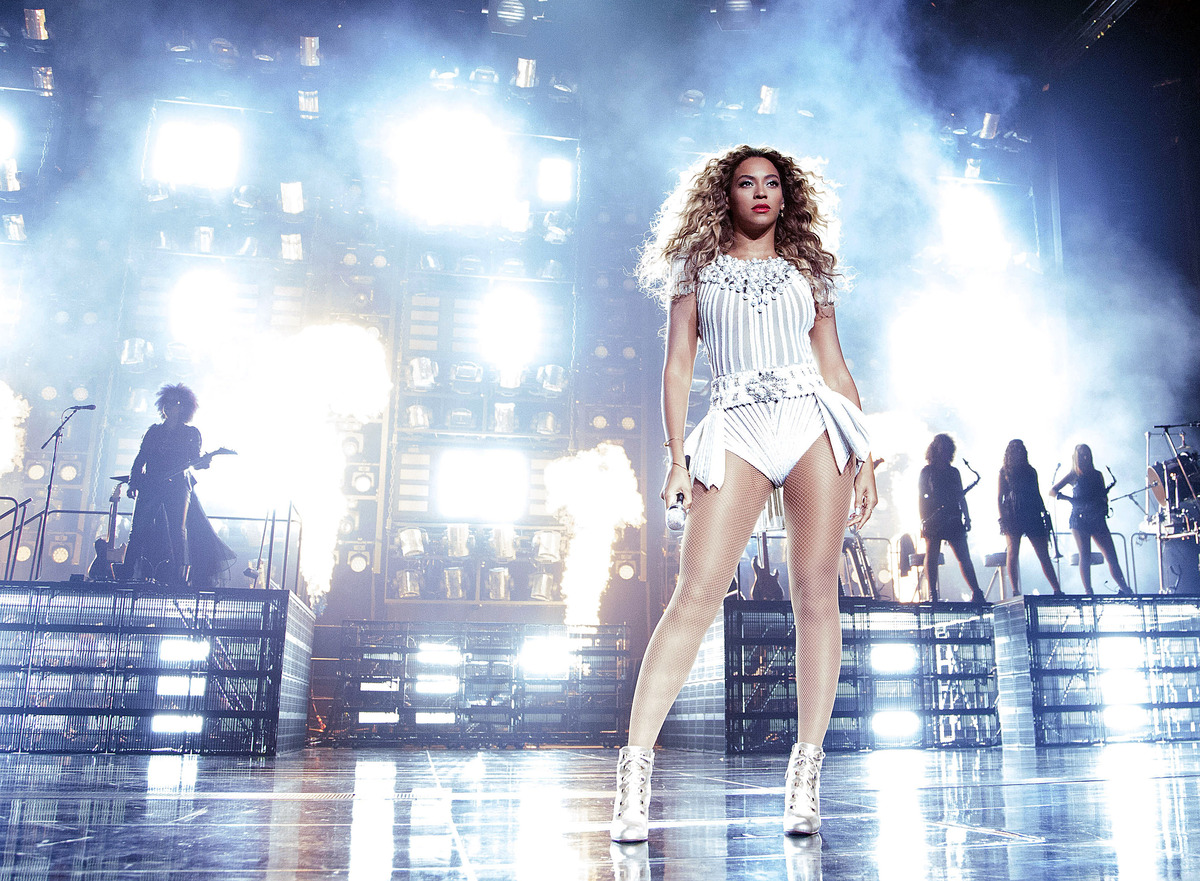 """IMAGE DISTRIBUTED FOR PARKWOOD - Singer Beyonce performs during her """"Mrs. Carter Show World Tour 2013"""", on Wednesday, July 31"""