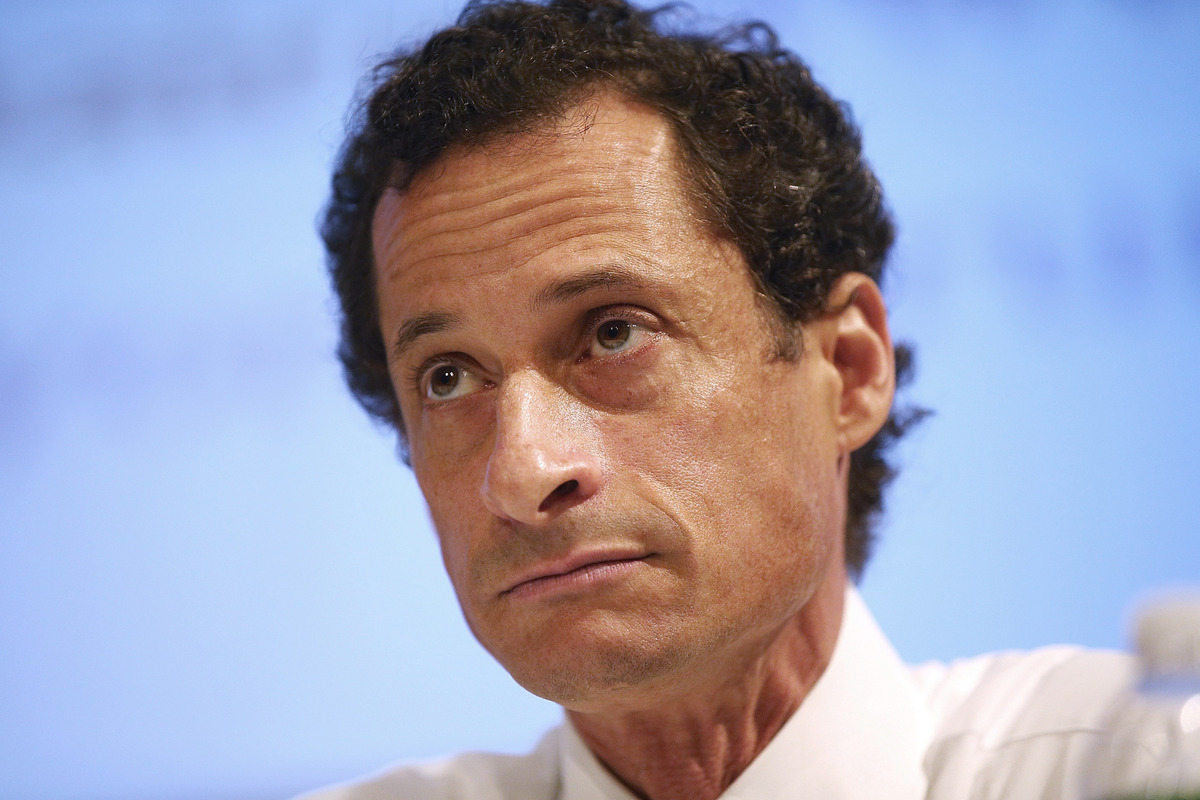 New York City Mayoral candidate Anthony Weiner attends the Council of Senior Centers and Services of NYC Mayoral Forum at New