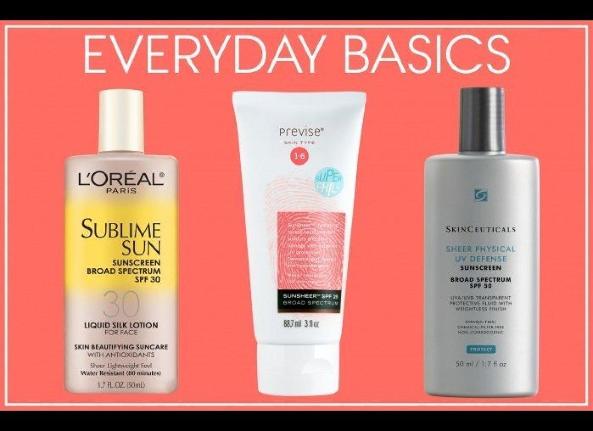 L'Oréal Paris Sublime Sun Advanced Sunscreen Liquid Silk Lotion for Face SPF 30, $10; lorealparisusa.com  Previse SunSheer