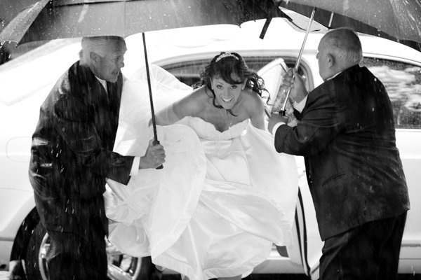 """""""There was a monsoon on my wedding day!  Earlier in the planning process I swore to my husband-to-be that I would not be upse"""