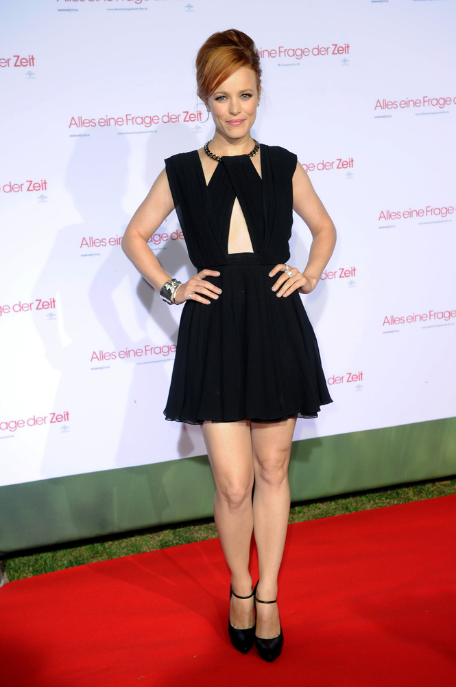 Actress Rachel McAdams poses at the red carpet during the Universal Open Air Film Lounge with the special screening of 'Alle