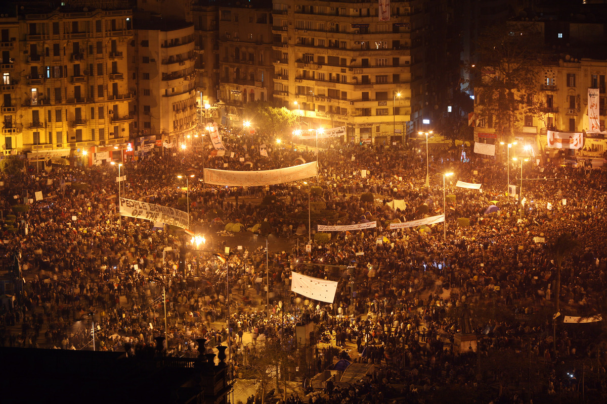 Egyptians stage nationwide demonstrations against nearly 30 years of President Hosni Mubarak's rule. Hundreds of protesters a