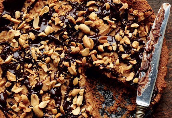 """There is nothing perfect-looking about this insanely good chocolate-peanut butter pie from <em><a href=""""http://www.amazon.com"""