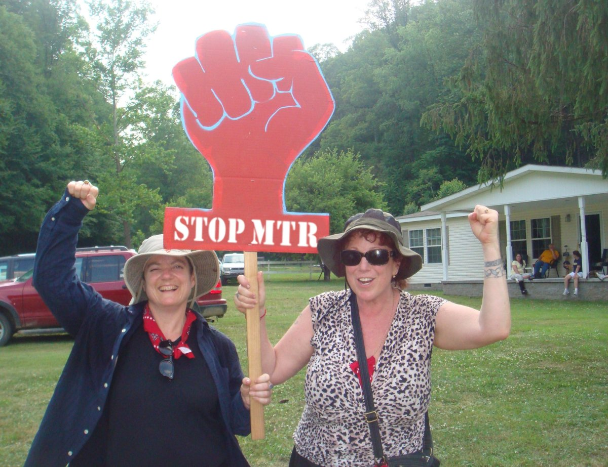 """Filmmakers Beth Stephens (left) and Annie Sprinkle shine the light on Mountain Top Removal in West Virginia in <a href=""""http:"""
