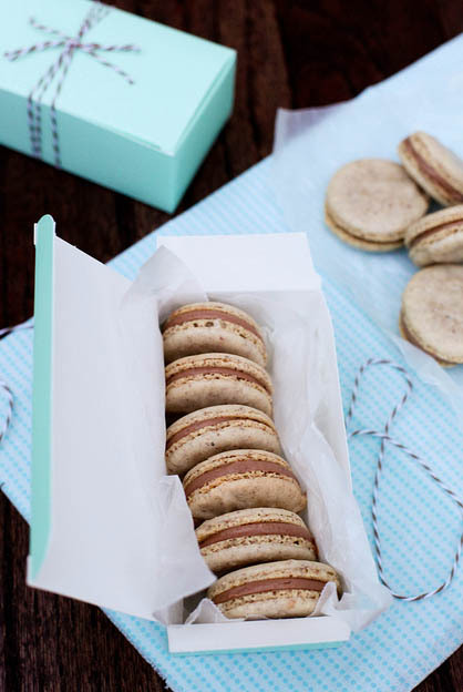"""<strong>Get the <a href=""""http://www.annies-eats.com/2012/05/18/hazelnut-macarons-with-nutella-filling/"""" target=""""_blank"""">Hazel"""
