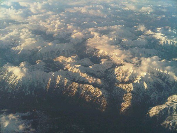 The mountains near Vancouver from above. Vancouver is amazing in that there are beaches near the mountains. Nature at its bes