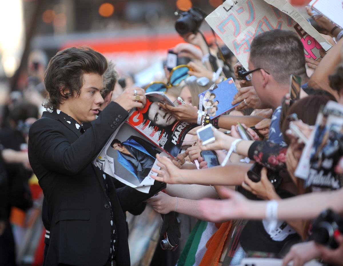 Harry Styles arrives at the UK Premiere of 'One Direction: This Is Us 3D' - VIP Arrivals, on Tuesday August 20, 2013, in Lond