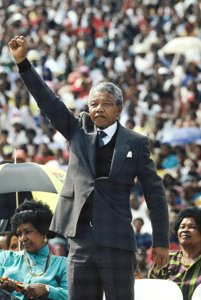 Former South African President Nelson Mandela, who served 27 years in prison for anti-apartheid activities and led his contin