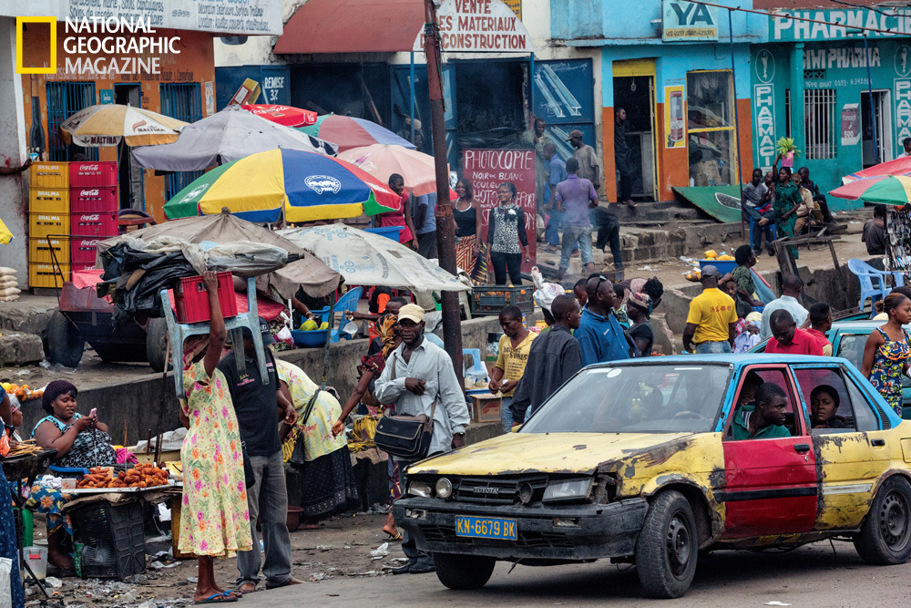 Kinshasa's busy Ngaba intersection throbs with entrepreneurial energy. Most of the city's residents are officially jobless an