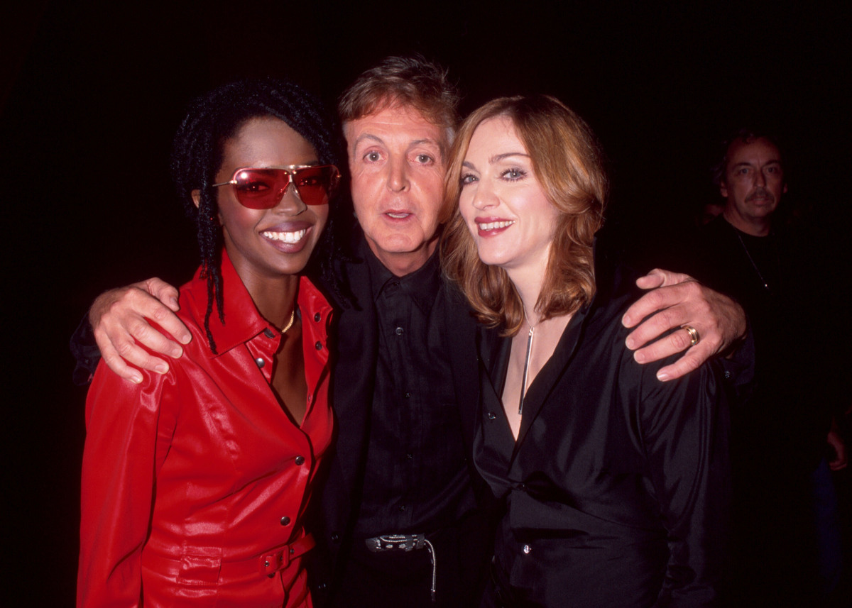 Madonna, Lauryn Hill and Paul McCartney in New York City  (Photo by KMazur/WireImage)