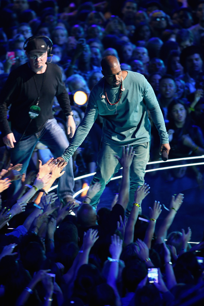 NEW YORK, NY - AUGUST 25:  Musician Kanye West performs onstage during the 2013 MTV Video Music Awards at the Barclays Center