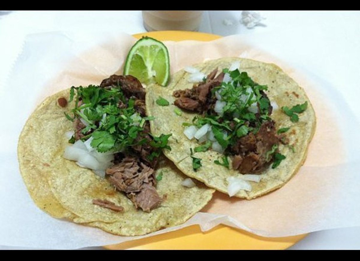 At Chicago's family-run Birrieria Zaragoza, goat is the name of the game. Namely, the roasted goat taco, or <em>birria tatema