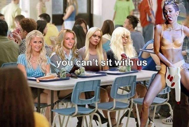 LOL hahaha  @mileycyrus  she can sit with me!  de$ha-Tron @Deshasuxx