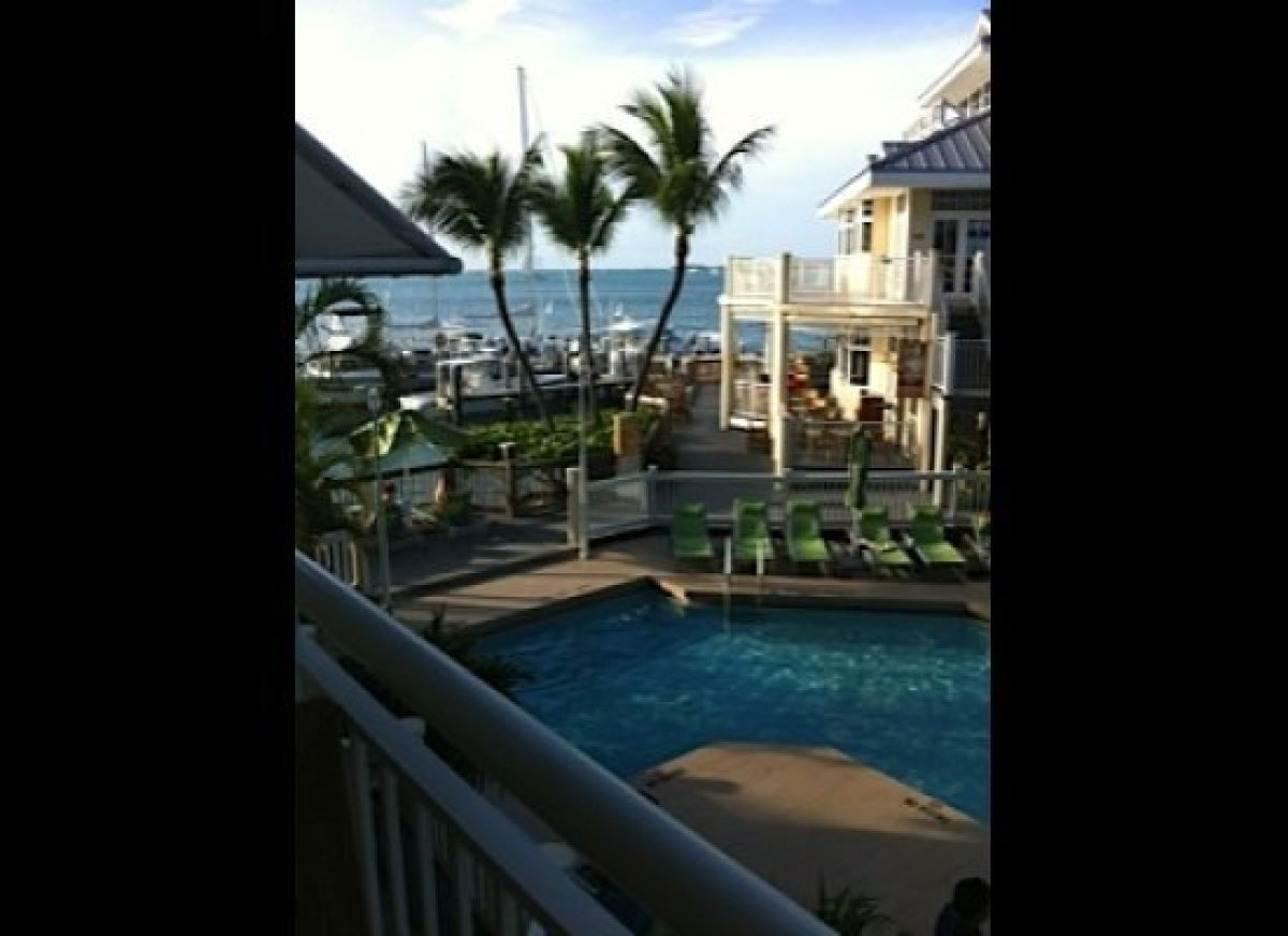 The view from my room at the Hyatt Key West Resort and Spa