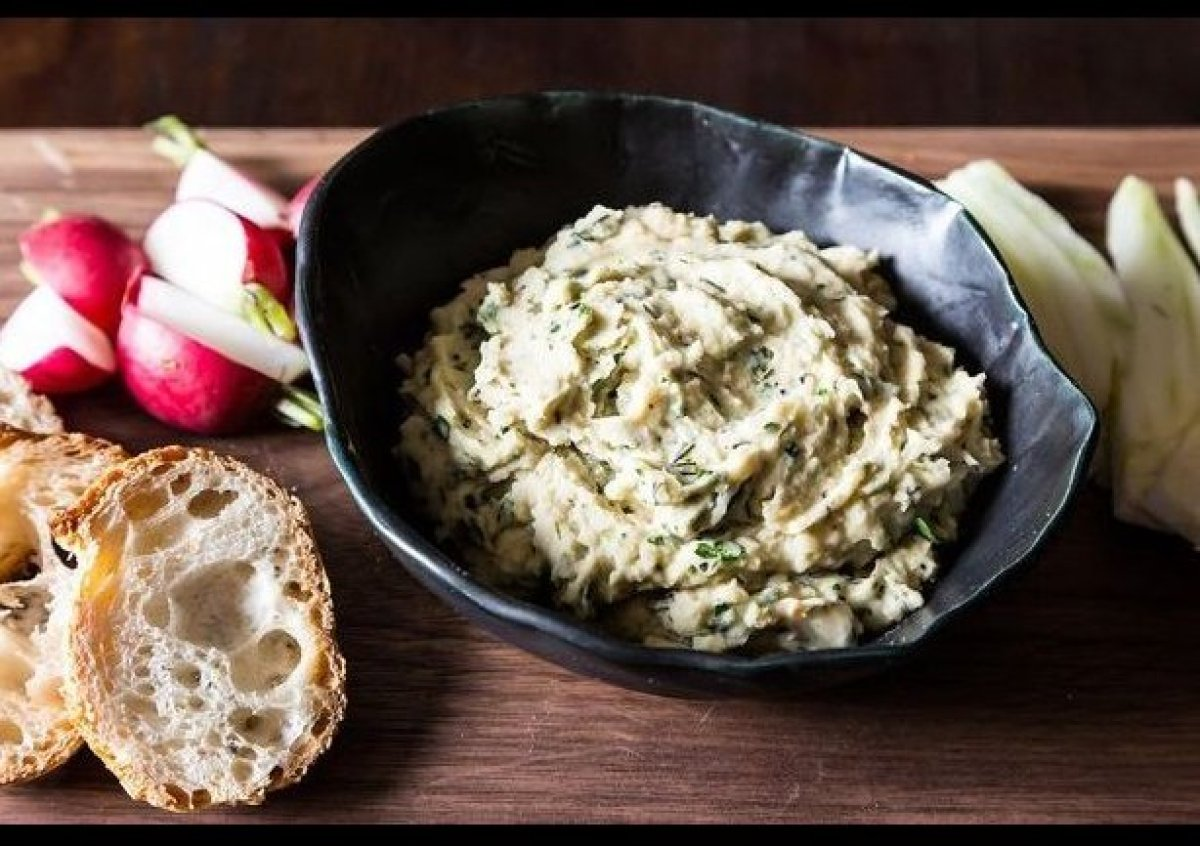 """<em><strong><a href=""""http://food52.com/recipes/21757-white-bean-dip-with-fresh-herbs"""" target=""""_hplink"""">Get the recipe on Food"""