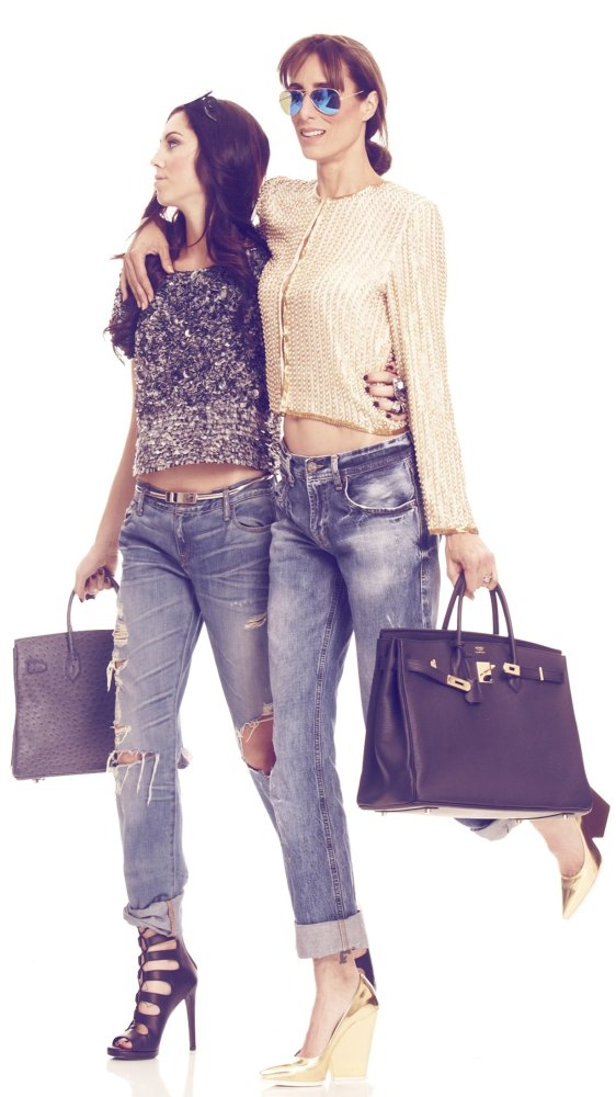 Embellished tops and boyfriend jeans photos by Cavan Clark