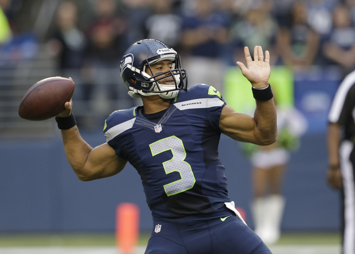 """Sophomore slump for quarterback Russell Wilson? Please. This guy is magic, and so too is the <a href=""""http://www.huffingtonpo"""