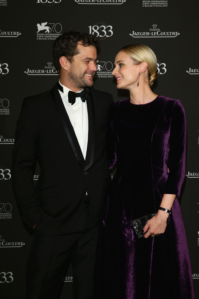 VENICE, ITALY - SEPTEMBER 02: Actors Joshua Jackson and Diane Kruger (R) wearing a Jaeger-LeCoultre watch attend a gala dinne