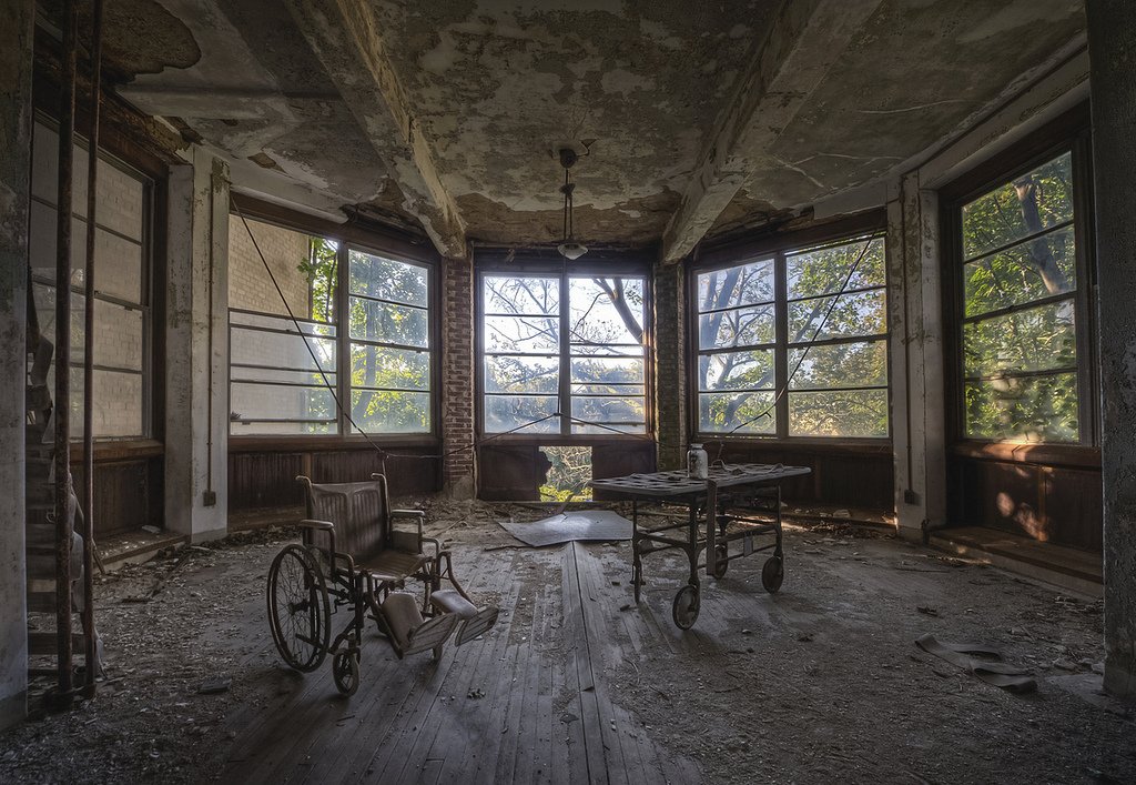 """I actually like taking photos of all things abandoned, but I have a particular love of asylums because of their size and ran"
