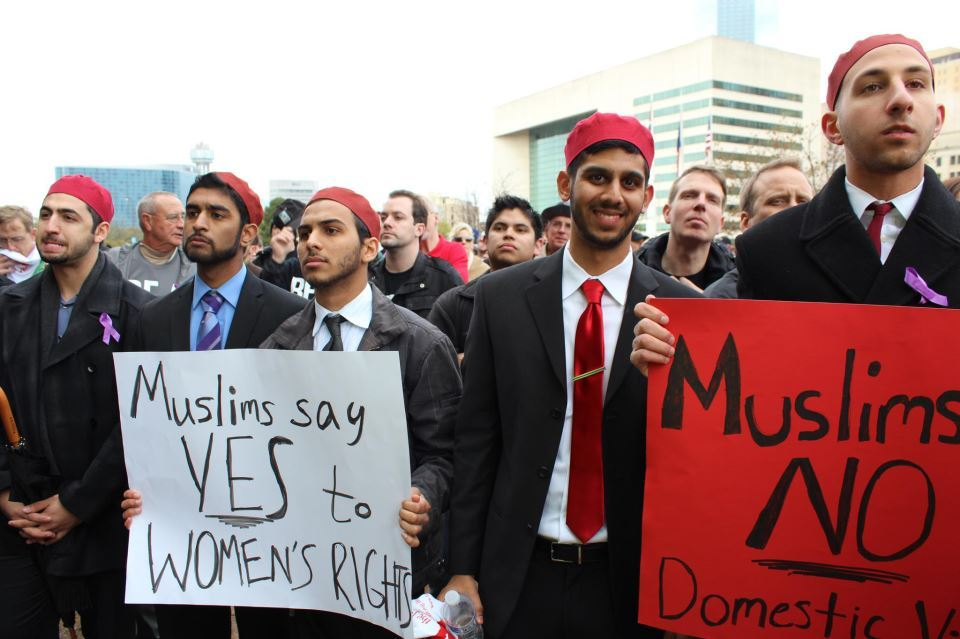 Alif Laam Meem represented the Muslim community today at Men's Rally Against Domestic Violence in Downtown Dallas.  We receiv