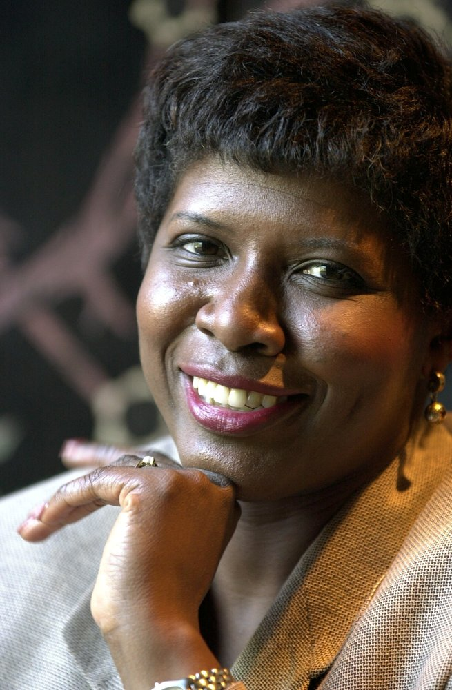 BOSTON - MAY 4: Gwen Ifill, new host for PBS's Washington Week in Review, during an interview at the Four Seasons Hotel. (Pho