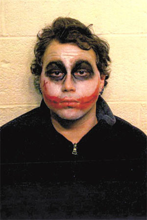 """Why so serious?  Chase was arrested after allegedly harassing Applebee's patrons in western New York while <a href=""""http://ww"""