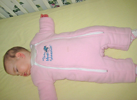 Maureen's youngest daughter, Grace, was the last of her children to pose as a Magic Sleepsuit model.