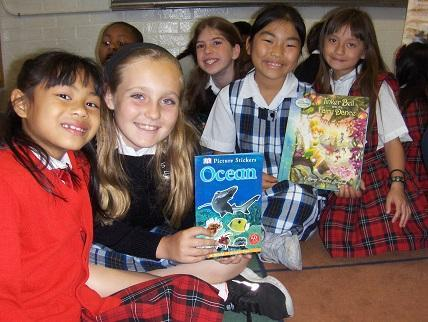BookEnds helps elementary school students organize book drives to donate gently used books to schools and youth organizations