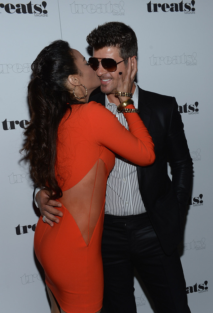 "Rumors surfaced after the VMAs that <a href=""http://www.huffingtonpost.com/2013/09/05/robin-thicke-paula-patton-cheating-alle"