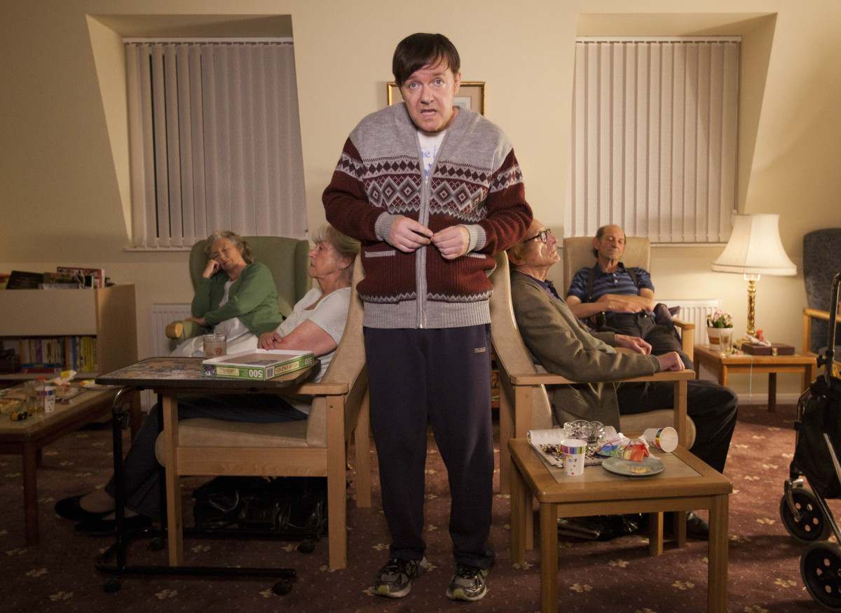 "Ricky Gervais in a scene from Netflix's ""Derek."""