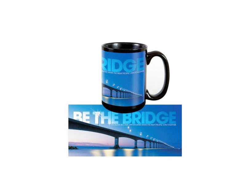 "Be the Bridge, Successories.com, <a href=""http://www.successories.com/products/Motivational-Gifts/Shop-by-Type/Drinkware/Cera"