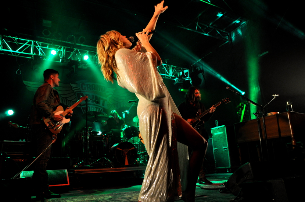 Grace Potter & The Nocturnals headline the first night of the Grand Point North music festival in Burlington, VT.