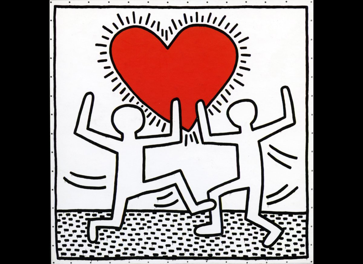 "<a href=""http://www.haring.com/!/art-work/886#.UjZJFmbl1WA"" target=""_hplink"">Keith Haring</a><em>Untitled</em>, 1982  Vinyl"