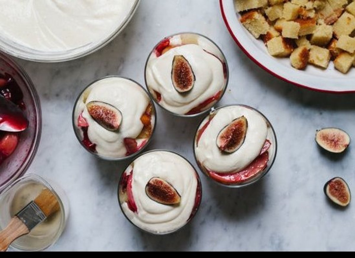 """<em><strong><a href=""""http://food52.com/blog/8084-late-summer-trifle"""" target=""""_hplink"""">Get the recipe on Food52</a></strong>.<"""