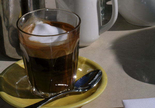 With a macchiato you get a shot of espresso (or sometimes two) with just a dot of foamed milk.