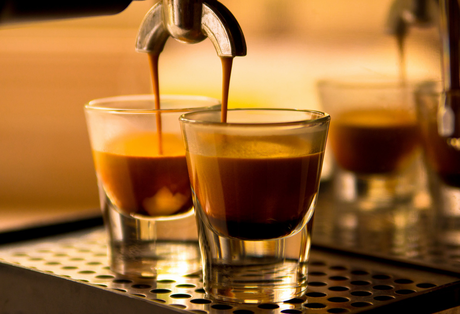 Doppio means double in Italian, and that's exactly what you get with espresso. Rather than the expected 30 ml shot of espress