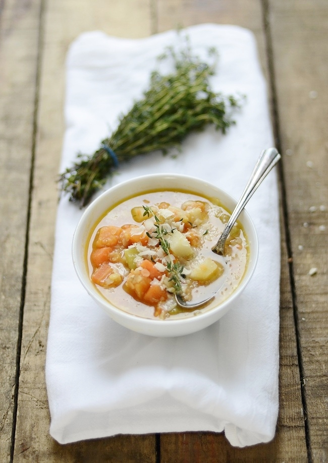 """<strong>Get the <a href=""""http://www.versesfrommykitchen.com/2012/02/red-lentil-vegetable-soup.html"""" target=""""_blank"""">Red Lenti"""