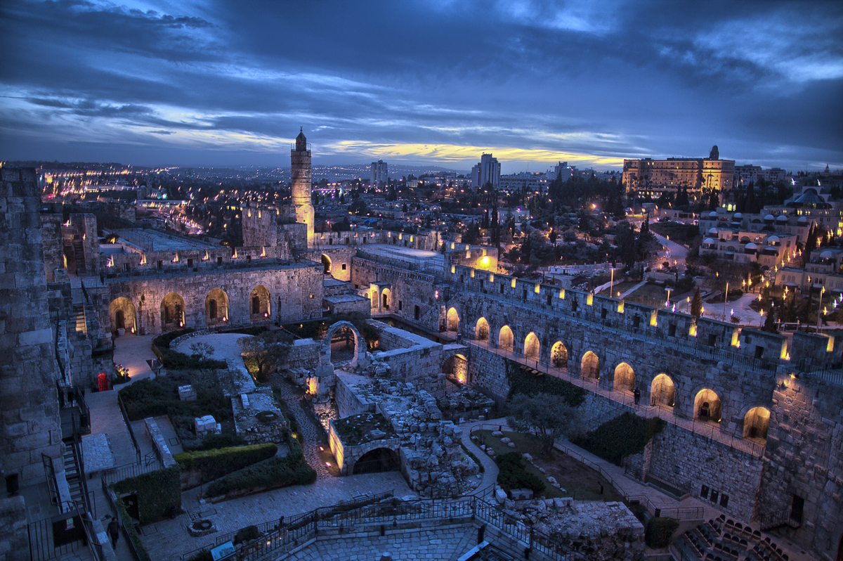 Jerusalem's iconic Citadel (now the Tower of David Museum of the History of Jerusalem)is a fortress with archaeological findi