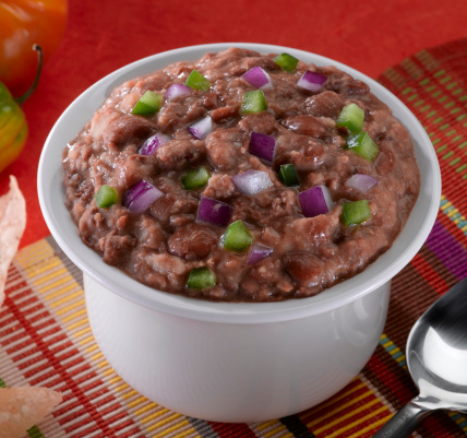 """Beware of the refried beans! Many of the """"traditional"""" or """"original"""" canned refried beans are <a href=""""http://www.generalmill"""
