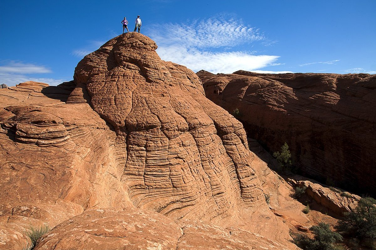 You bike around, hike through or climb up the rocks that surround and give name to Utah's Red Mountain Resort in St. George,