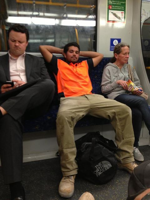 """Guys, it's time that we had a talk <a href=""""http://mentakingup2muchspaceonthetrain.tumblr.com"""" target=""""_blank"""">about this</a>"""