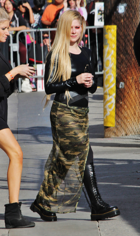 Singer Avril Lavigne is seen on September 18, 2013 in Los Angeles, California. (Photo by AF/Star Max/FilmMagic)