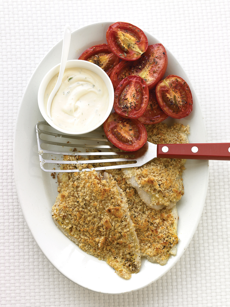"<strong>Get the <a href=""http://www.marthastewart.com/339766/baked-flounder-with-roasted-tomatoes?czone=food%2Ffish-and-shell"