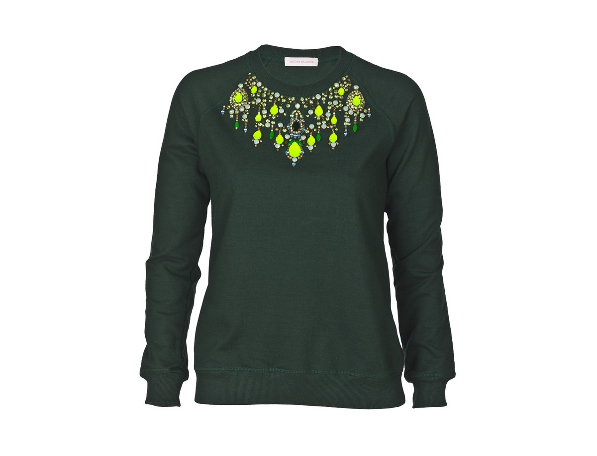 "Check it out <a href=""http://www.goop.com/shop/matthew-williamson-exclusive-beaded-crystal-olive-sweatshirt.html"" target=""_bl"