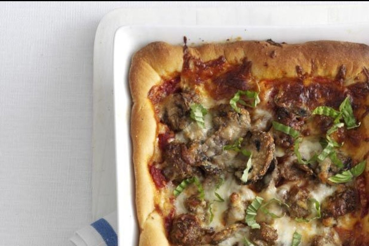 """Since I live near Chicago, I've managed to sample more than my share of deep-dish pizzas. This recipe lets you recreate the"