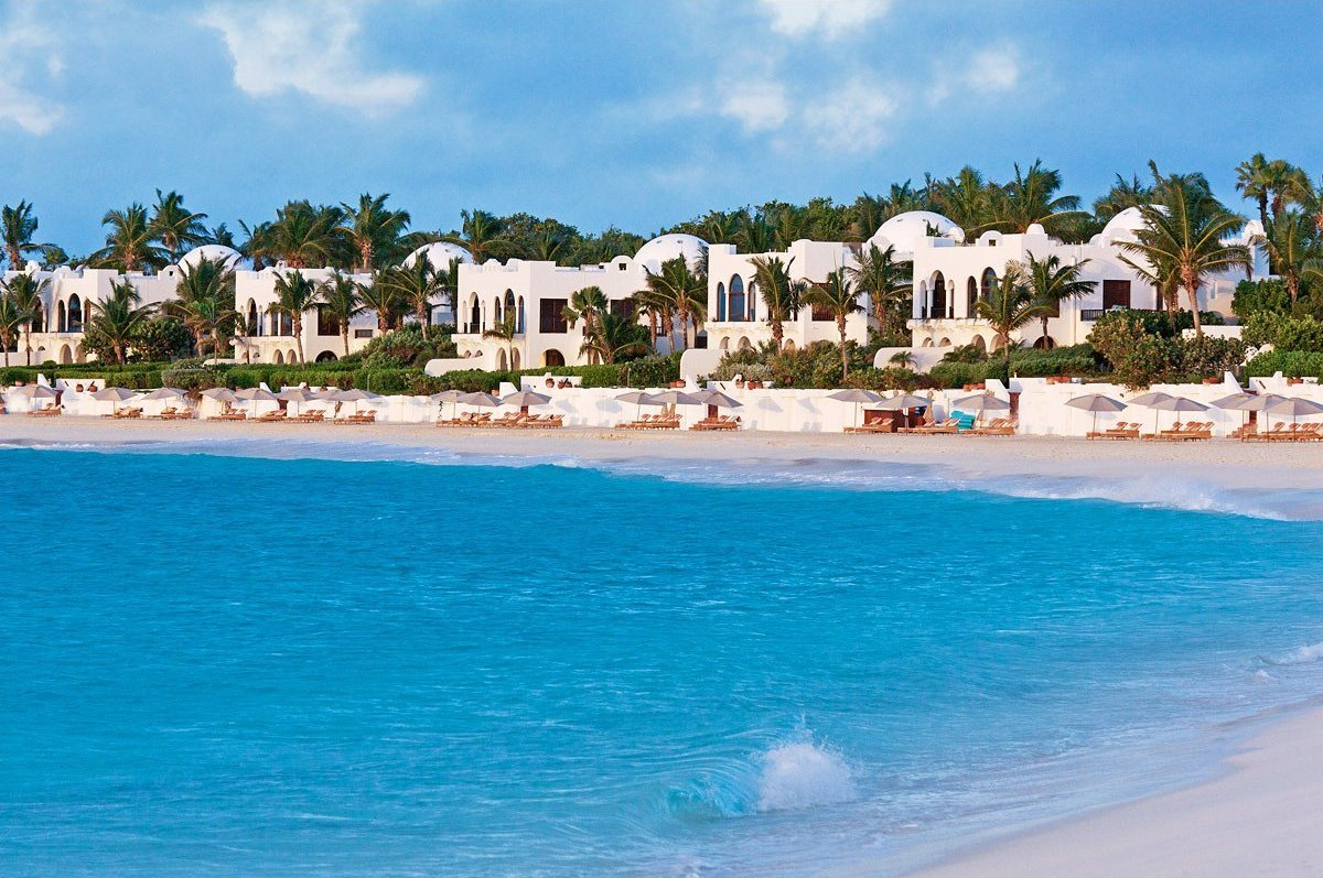 This stylish Anguilla resort sits on its own 180-acre garden peninsula and fronts one of the finest beaches in the Caribbean.