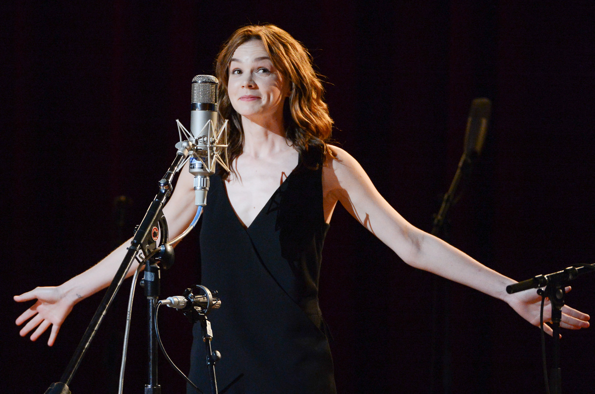 "Actress Carey Mulligan performs at ""Another Day, Another Time: Celebrating the Music of Inside Llewyn Davis"" at The Town Hall"