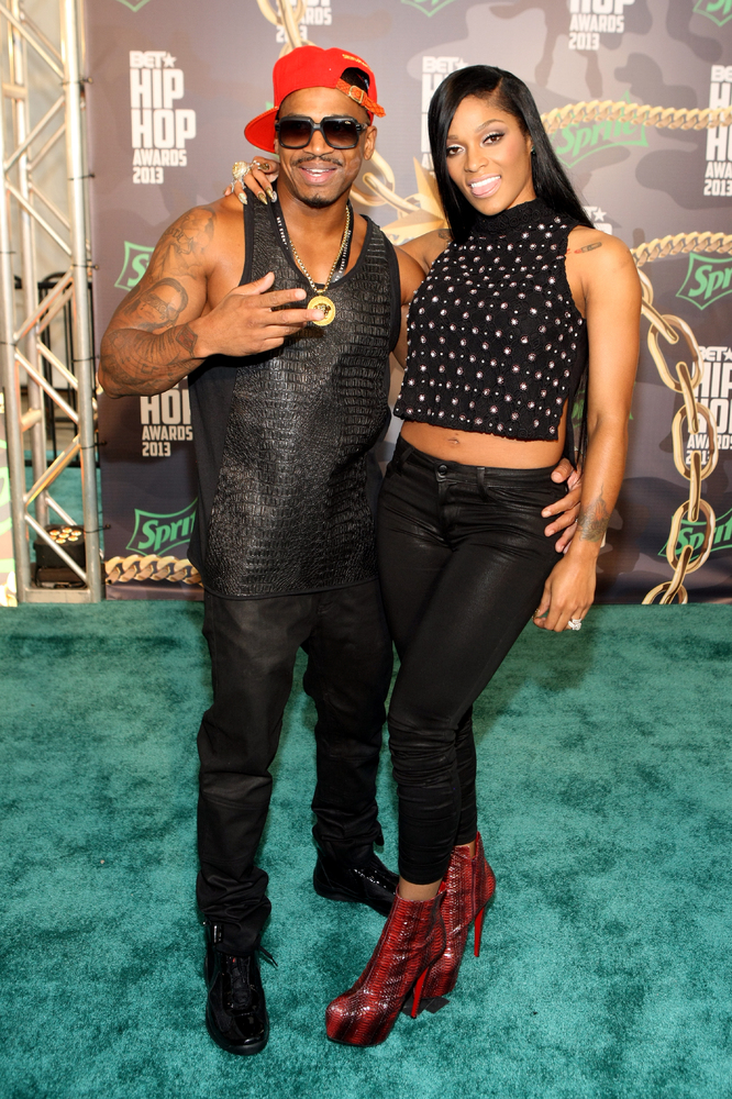 ATLANTA, GA - SEPTEMBER 28: Stevie J. (L) and Joseline Hernandez attend the BET Hip Hop Awards 2013 at Boisfeuillet Jones Atl