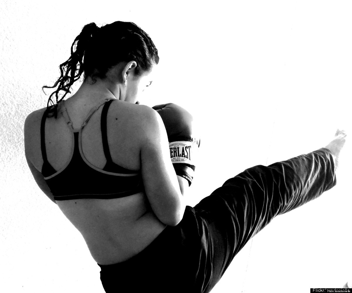 Kick Boxing helps you let off steam.